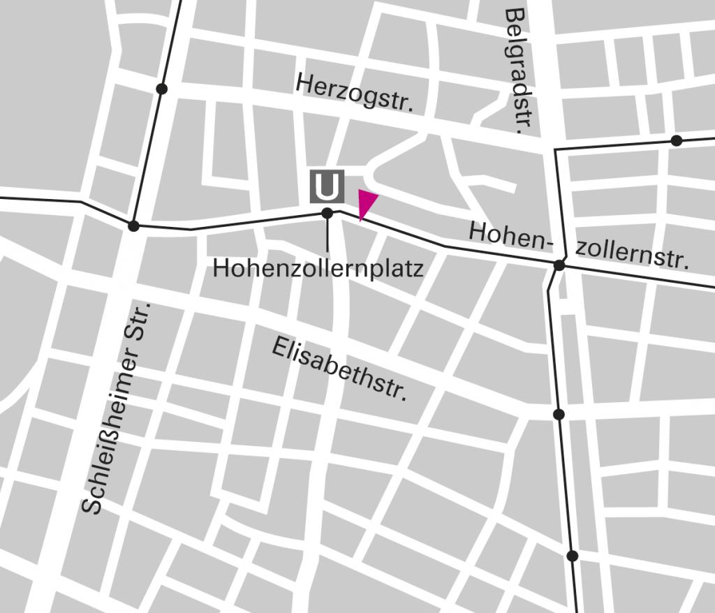 Lageplan, Zoomstufe 3: Büros für Gestaltung Wangler & Abele